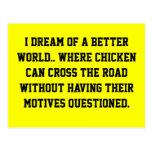 Sueño del pollo postal