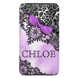 sueño del tacto de 311 iPod en leopardo y violeta  Barely There iPod Protector