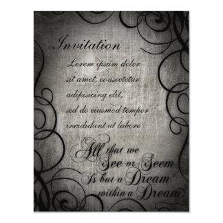Sueño dentro del coordenadas ideales invitación 10,8 x 13,9 cm