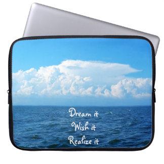 Sueño deseo él lo realiza diseño del mar de la cit fundas ordendadores