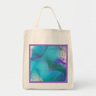 Sueño dulce violeta azul del trullo en colores bolsa tela para la compra