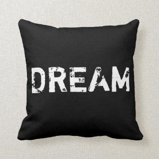 Sueño en almohada blanco y negro
