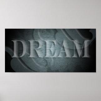 Sueño (en añil) póster