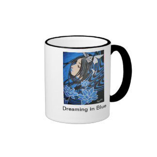 Sueño en azul taza de dos colores
