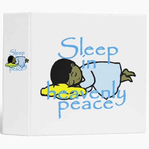 Sueño en la carpeta de Avery de la paz