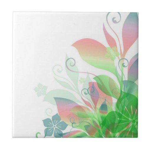 Sueño en las flores 2 tejas  ceramicas