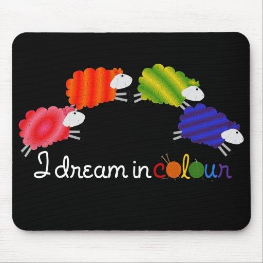 Sueño en las ovejas del color - Mousemat Tapetes De Ratón