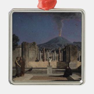 Sueño en las ruinas de Pompeya, 1866 Adorno Navideño Cuadrado De Metal