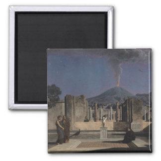 Sueño en las ruinas de Pompeya, 1866 Imán Cuadrado