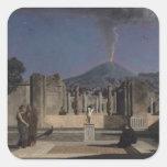 Sueño en las ruinas de Pompeya, 1866 Calcomania Cuadradas Personalizadas