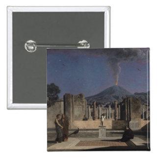 Sueño en las ruinas de Pompeya, 1866 Pin Cuadrado