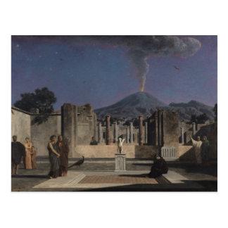 Sueño en las ruinas de Pompeya, 1866 Postal