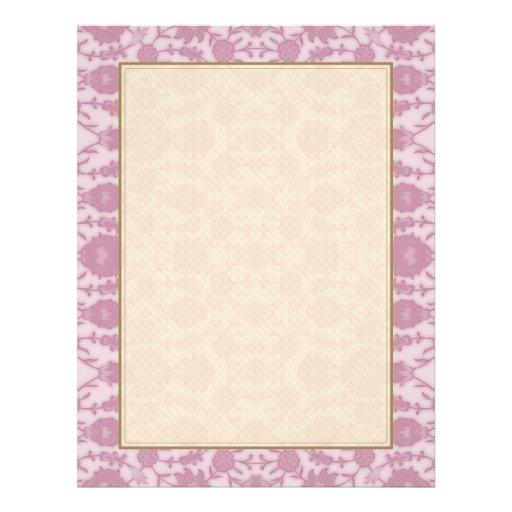"""Sueño floral en rosa folleto 8.5"""" x 11"""""""