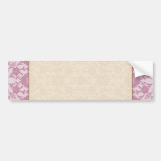 Sueño floral en rosa pegatina para auto