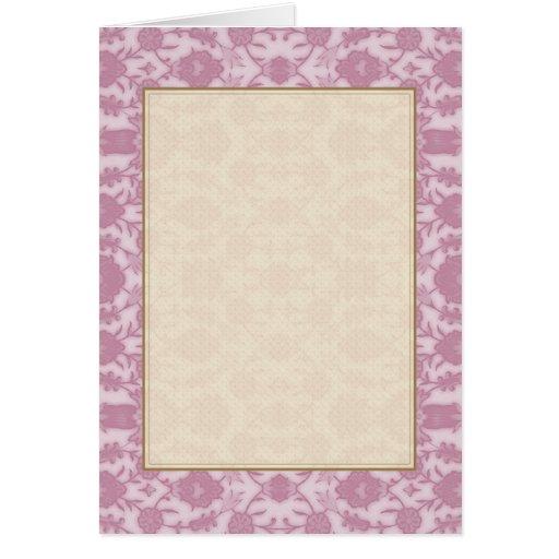Sueño floral en rosa tarjeta de felicitación