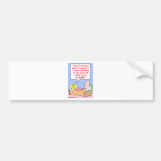 sueño guarro del humor del mercado etiqueta de parachoque