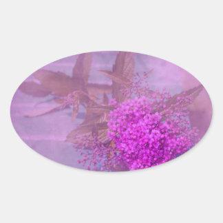 sueño lila de verano pegatina ovalada