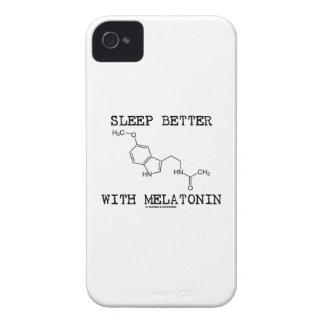 Sueño mejor con Melatonin (molécula química) Carcasa Para iPhone 4 De Case-Mate