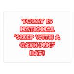 """""""Sueño nacional con"""" un día católico Tarjetas Postales"""