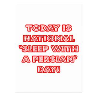 Sueño nacional con un día persa postales