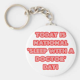 Sueño nacional con un doctor día llaveros