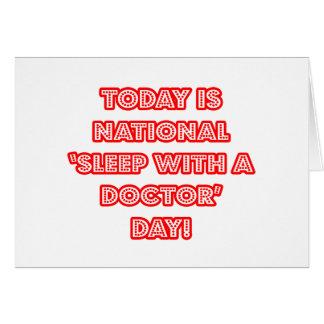 Sueño nacional con un doctor día felicitacion