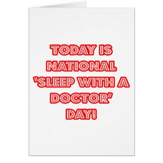 Sueño nacional con un doctor día tarjetón
