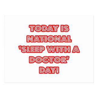 Sueño nacional con un doctor día tarjeta postal
