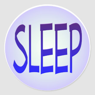 sueño etiqueta redonda