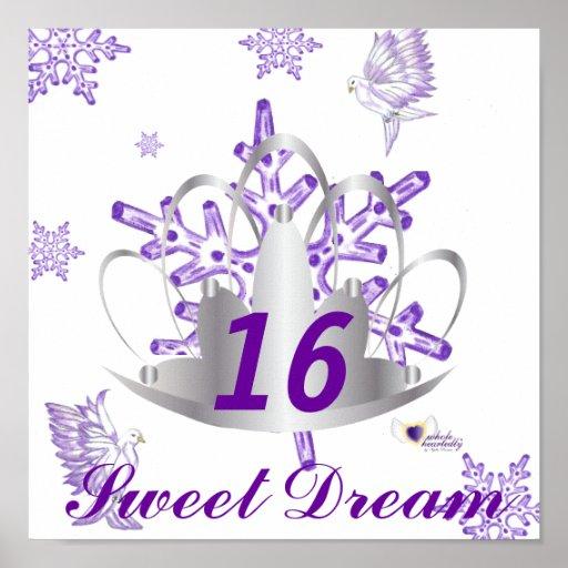Sueño-Personalizar del dulce dieciséis Póster