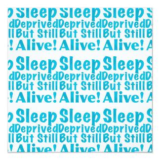 """Sueño privado pero aún vivo en azul invitación 5.25"""" x 5.25"""""""