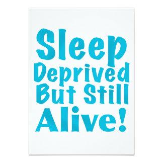 """Sueño privado pero aún vivo en azul invitación 5"""" x 7"""""""