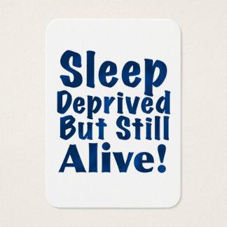 Sueño privado pero aún vivo en azul marino tarjetas de visita grandes