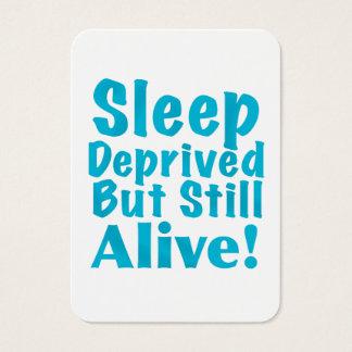 Sueño privado pero aún vivo en azul tarjetas de visita grandes