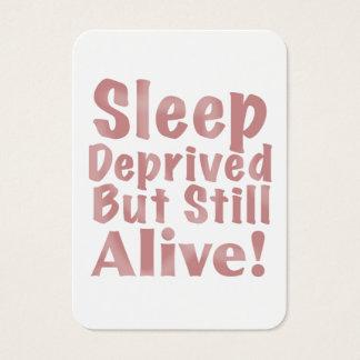 Sueño privado pero aún vivo en color de rosa tarjetas de visita grandes