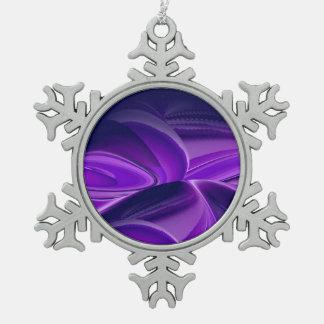 Sueño púrpura de la flor adorno de peltre en forma de copo de nieve