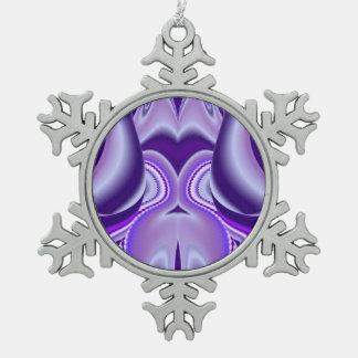 Sueño púrpura de la Nieve-Flor Adorno De Peltre En Forma De Copo De Nieve
