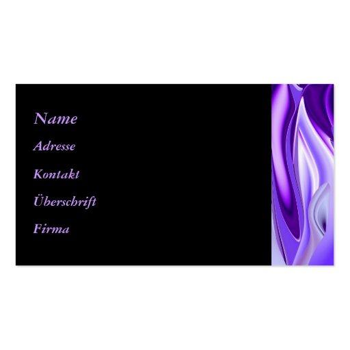 Sueño púrpura tarjetas de visita
