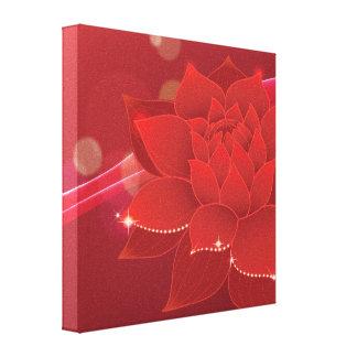 Sueño rojo de la flor impresión en lona estirada