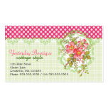 Sueño rosado de la cabaña de las flores del vintag tarjeta de negocio
