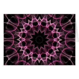 Sueño rosado tarjeta de felicitación