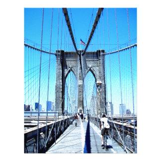 sueño sonriente de Brooklyn del puente Plantilla De Membrete