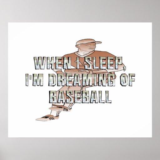 Sueño SUPERIOR con el béisbol Póster