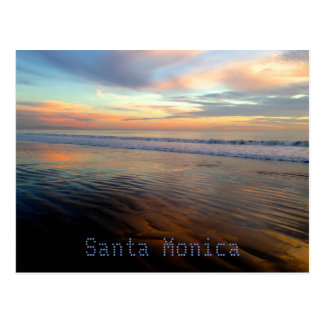 Sueño Trippy de la puesta del sol de Santa Mónica Tarjetas Postales
