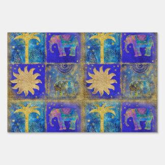 Sueño tropical azul letreros
