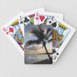Sueño tropical de la hawaiana del océano de la baraja cartas de poker