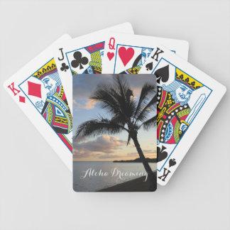 Sueño tropical de la hawaiana del océano de la cartas de juego