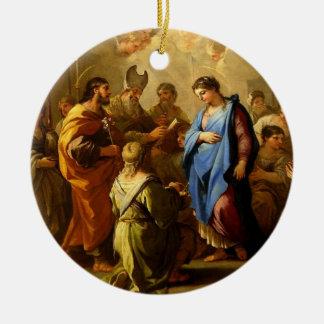 Sueño y boda el tranquilizar de José a Maria Ornam Ornamento De Reyes Magos