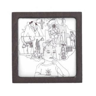 Sueños 1 del chica caja de recuerdo de calidad