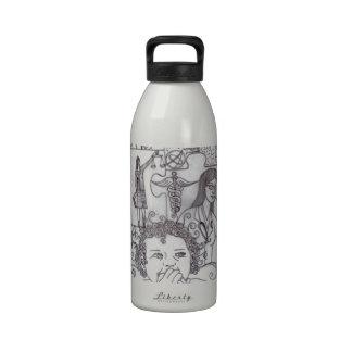 Sueños 2 del chica botellas de agua reutilizables